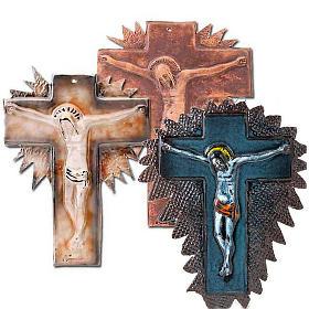 Mural ceramic crucifix  cm28 (11 in) s1