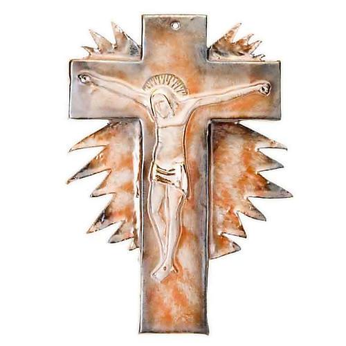 Mural ceramic crucifix  cm28 (11 in) 2