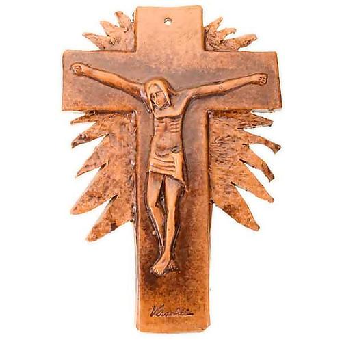 Mural ceramic crucifix  cm28 (11 in) 3