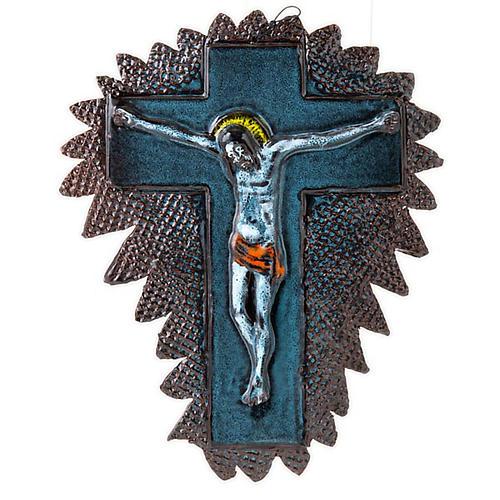 Mural ceramic crucifix  cm28 (11 in) 4
