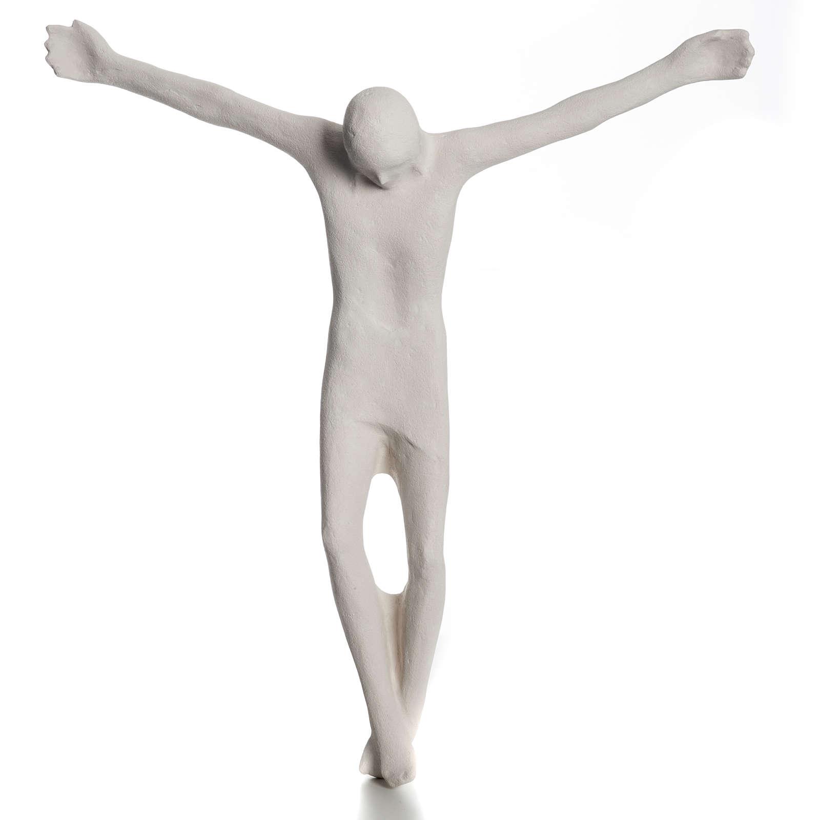 Corpo di Cristo stilizzato 66 cm argilla bianca 4