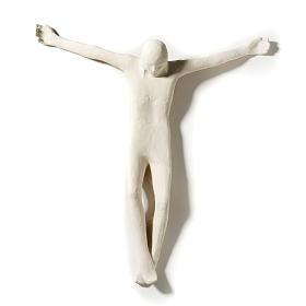 Corpo di Cristo stilizzato 66 cm argilla bianca s2