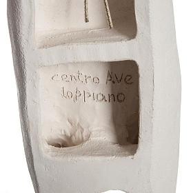 Corpo di Cristo stilizzato 66 cm argilla bianca s7