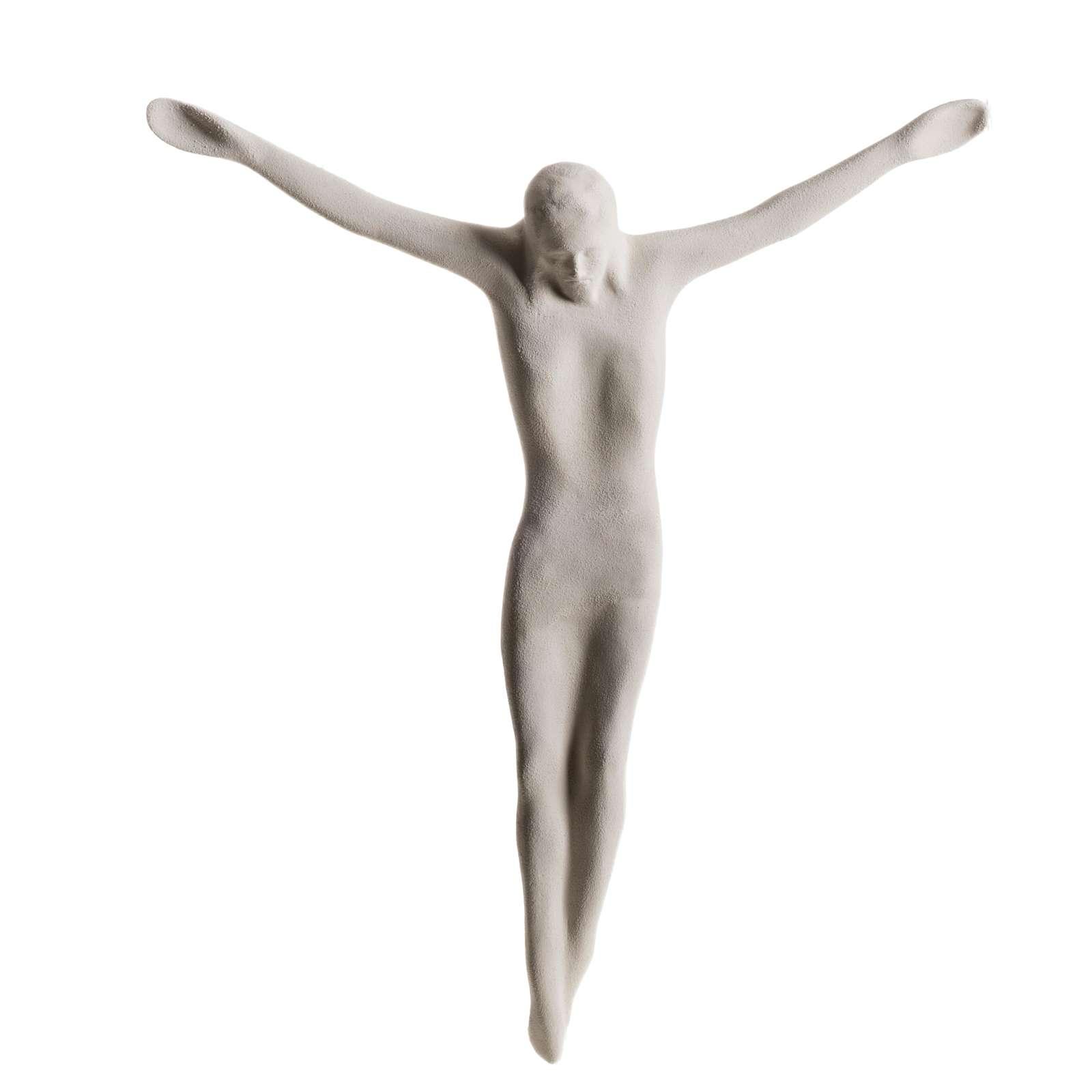 Cuerpo de Jesucristo estilizado 44 cm. arcilla blanca 4