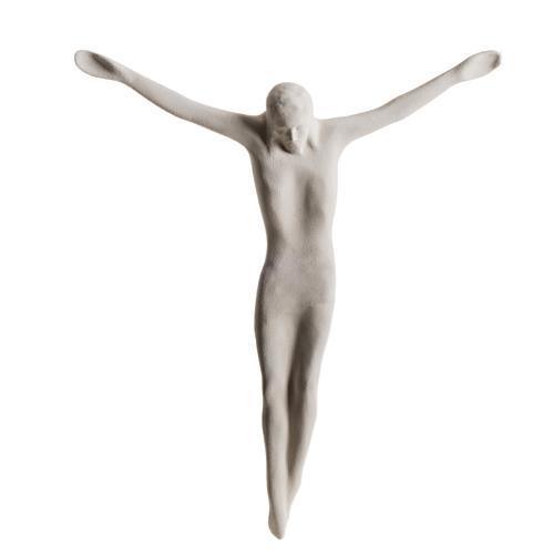 Cuerpo de Jesucristo estilizado 44 cm. arcilla blanca 1