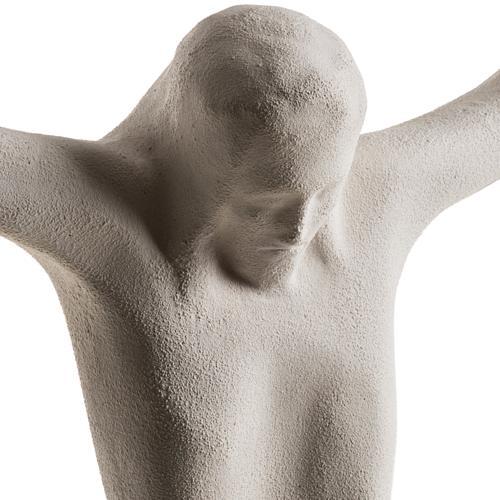 Cuerpo de Jesucristo estilizado 44 cm. arcilla blanca 2
