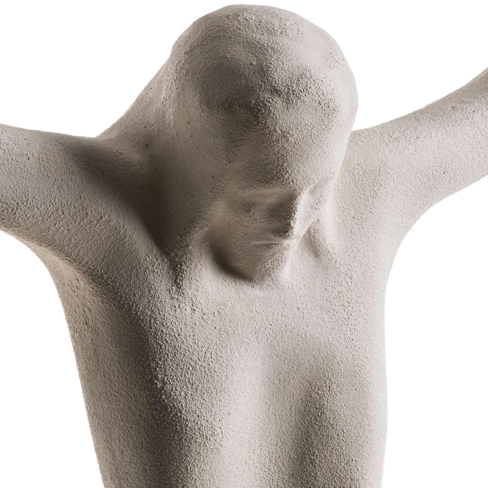 Corpo di Cristo stilizzato 44 cm argilla bianca 4