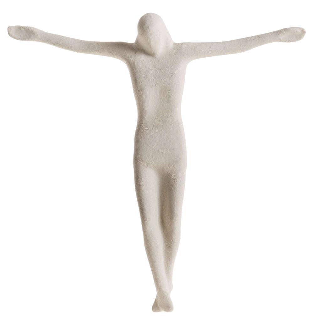 Cuerpo de Jesucristo estilizado 28 cm. arcilla blanca 4