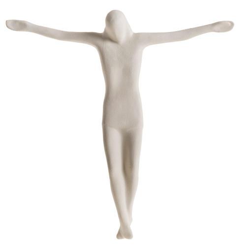 Cuerpo de Jesucristo estilizado 28 cm. arcilla blanca 1