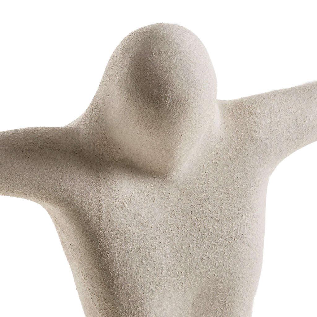 Corpo di Cristo stilizzato 28 cm argilla bianca 4
