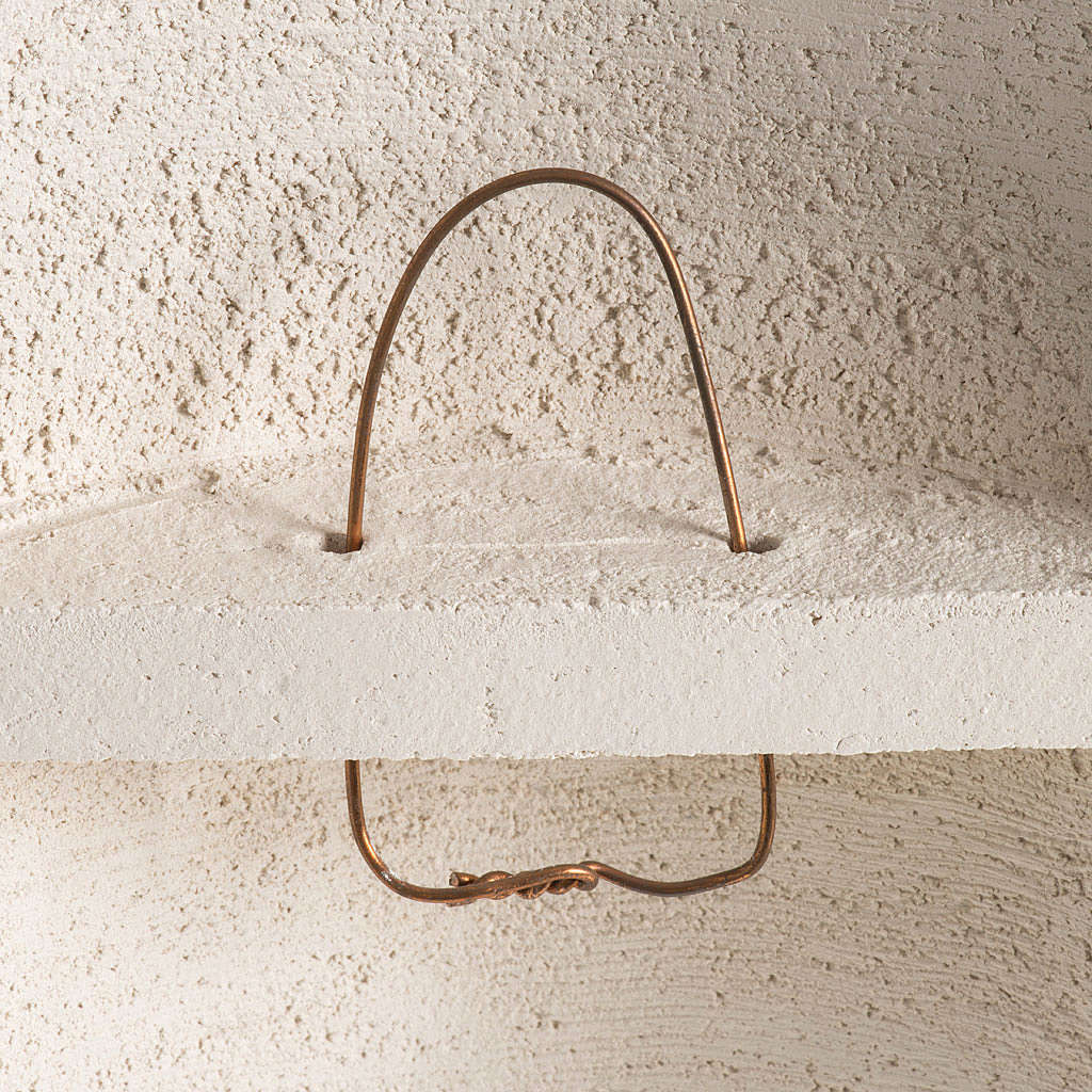 Crocefisso Stele argilla bianca 29,5 cm 4