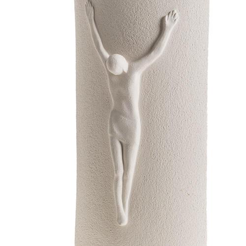 Crocefisso Stele argilla bianca 29,5 cm 3