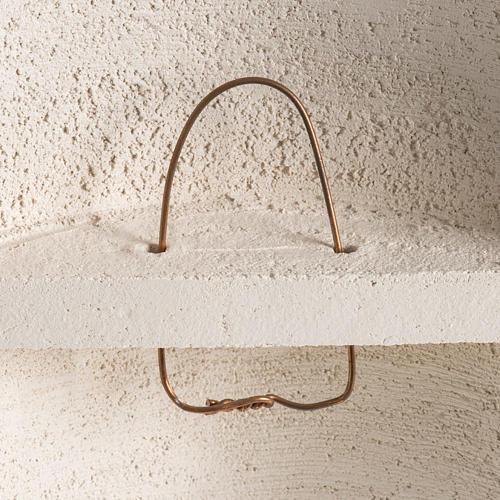 Crocefisso Stele argilla bianca 29,5 cm 5