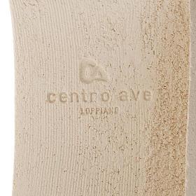 Crocefisso Stele argilla bianca e oro 29,5 cm s5