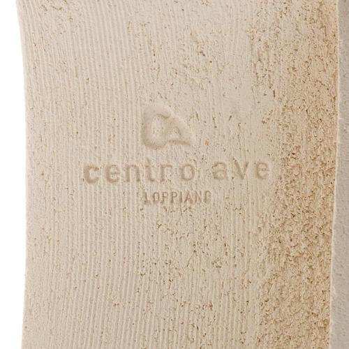 Crocefisso Stele argilla bianca e oro 29,5 cm 5