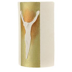 Crucifijo rayos oro 17,5 cm. s2