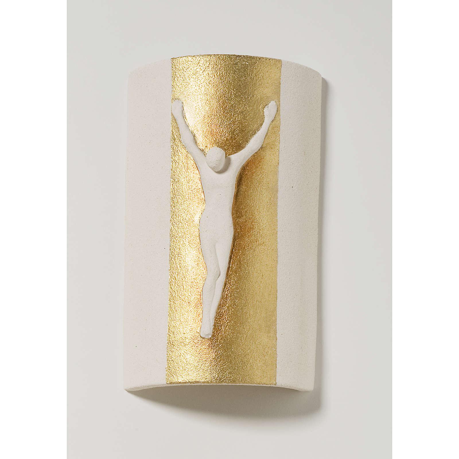 Crocefisso stele con oro cm 17,5 4