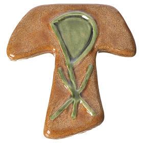 Croce tau ceramica XP marrone verde s1