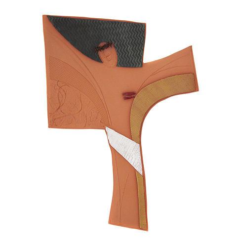 Wand Kruzifix Emmaus Keramik 1