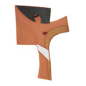Croce da parete ceramica Emmaus s1