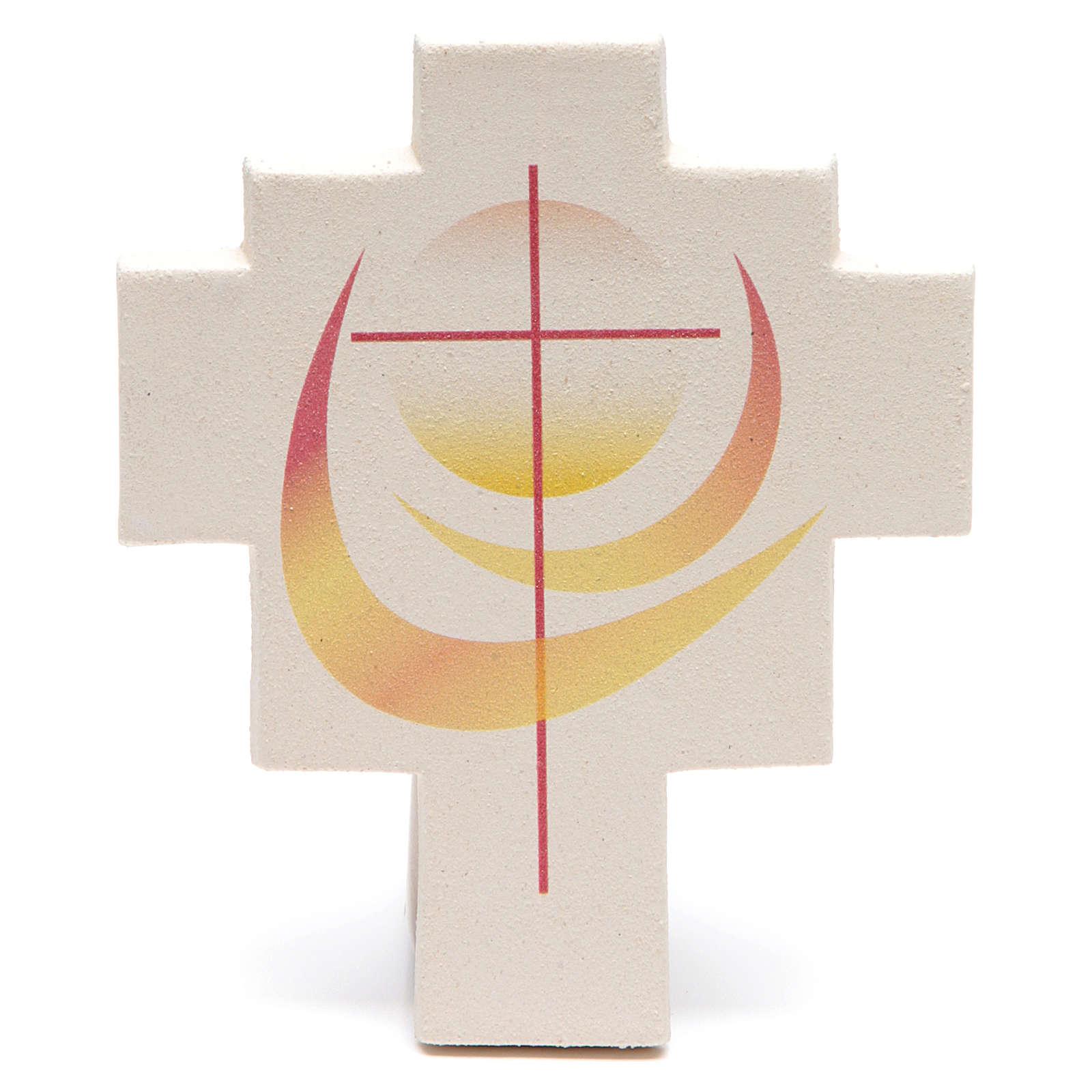 Iris cross by Ceramica Centro Ave, orange 4
