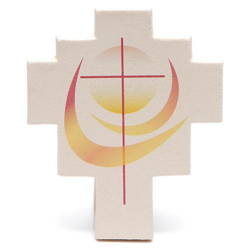 Iris cross by Ceramica Centro Ave, orange 1