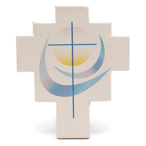 Iris cross by Ceramica Centro Ave, blue 1