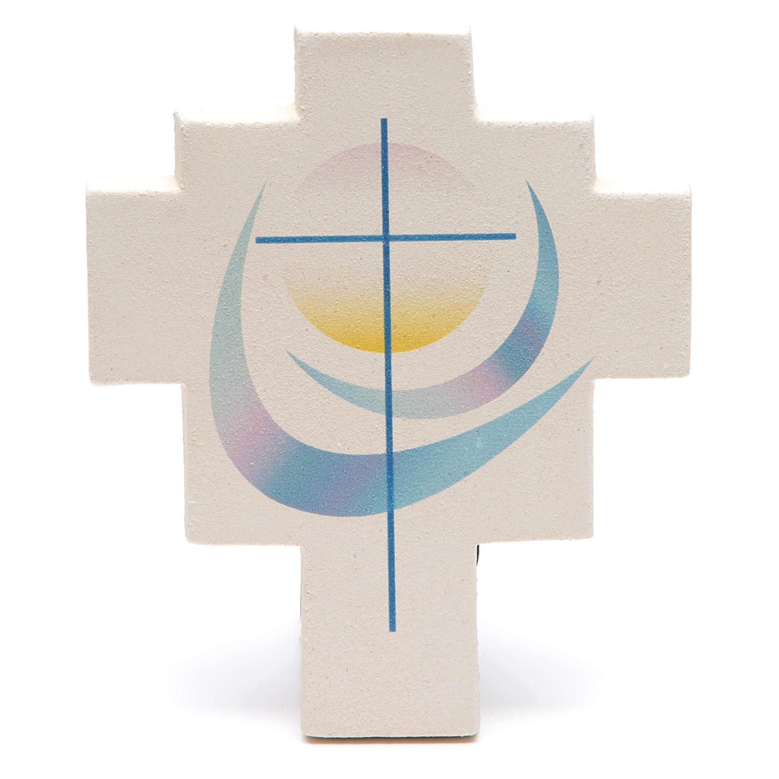 Iris cross by Ceramica Centro Ave, blue 4