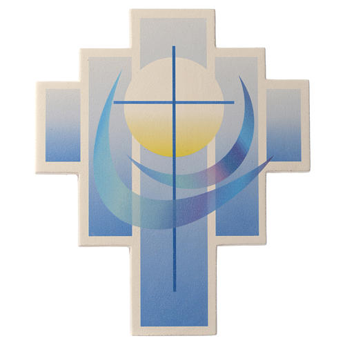Iris cross by Ceramica Centro Ave, blue 27.5cm 1