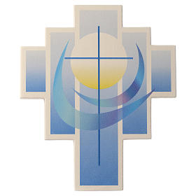 Iris cross by Ceramica Centro Ave, blue 27.5cm s1