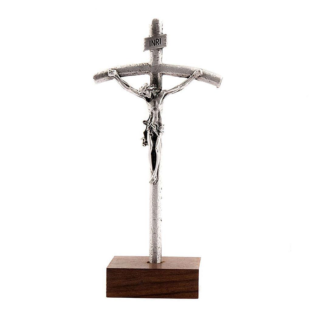 John Paul pastoral cross crucifix with base 4