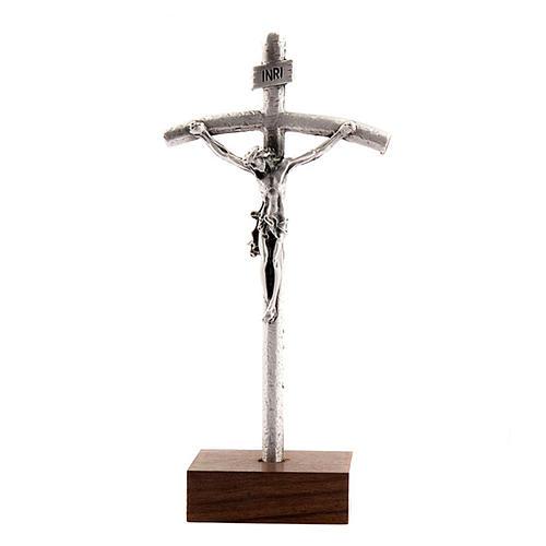 Croix du Pape Jean Paul II avec pied de base 1