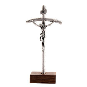 John Paul pastoral cross crucifix with base s1