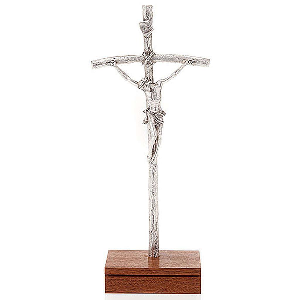 Crocefisso pastorale Giovanni Paolo II con base 4