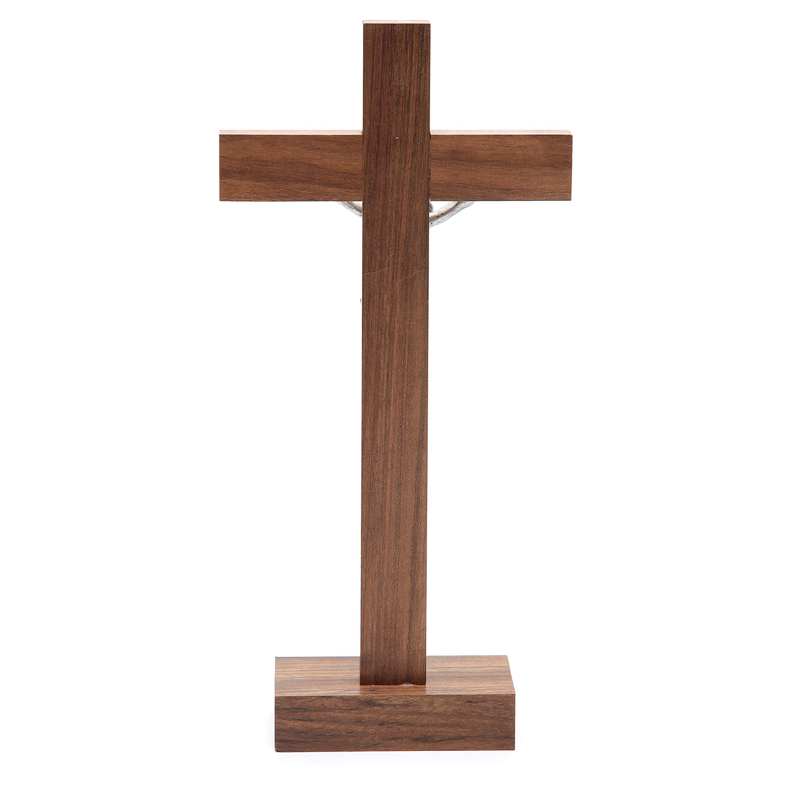 Crucifix de table en bois de noix avec base 4