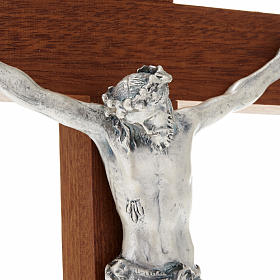 Straight Crucifix in wood with base s4