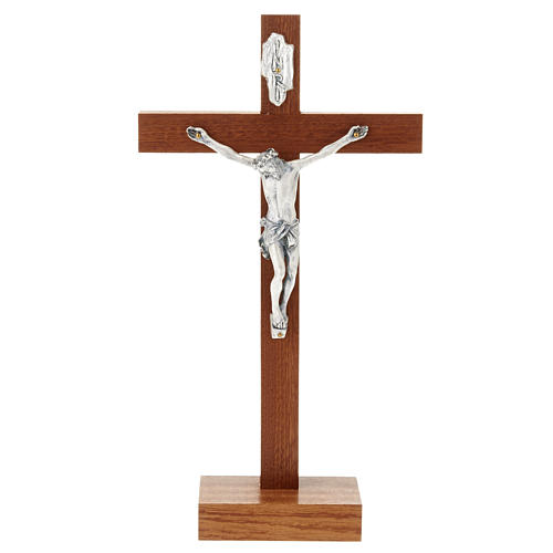 Straight Crucifix in wood with base 1