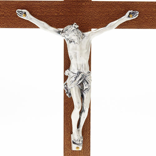 Straight Crucifix in wood with base 2