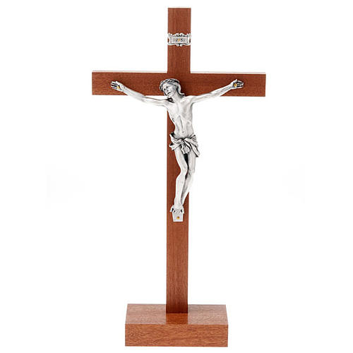 Mahogany Crucifix with base 1