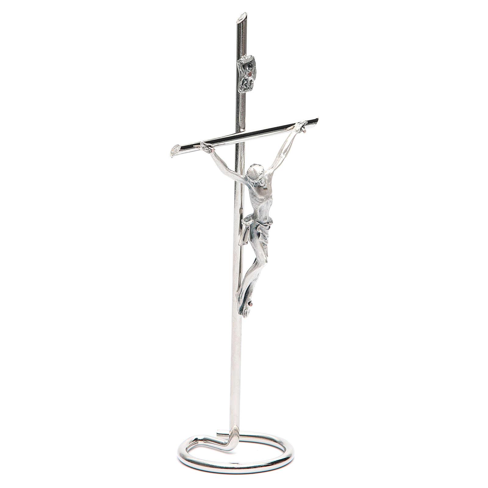 Kruzifix fuer Tisch kreise Basis 4
