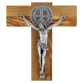 Crucifixo São Bento oliveira de mesa ou de parede