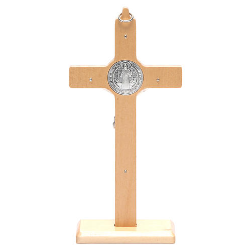 Saint Benedict cross table and wall natural wood 4