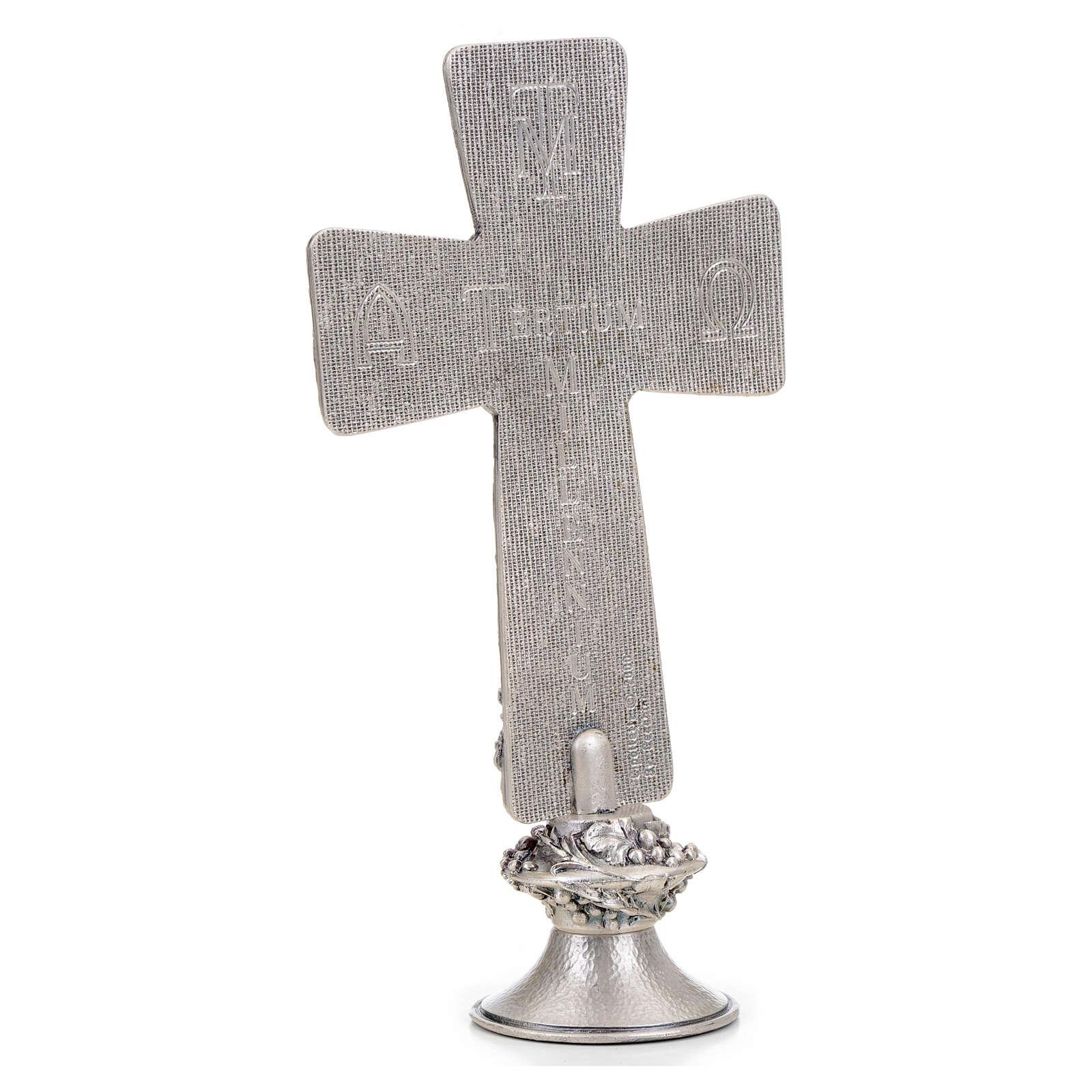 Croce tavolo argentata immagini Deposizione Resurrez. Ascens. 4