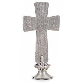 Croce tavolo argentata immagini Deposizione Resurrez. Ascens. s3