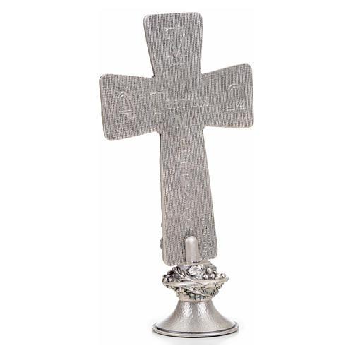 Croce tavolo argentata immagini Deposizione Resurrez. Ascens. 7