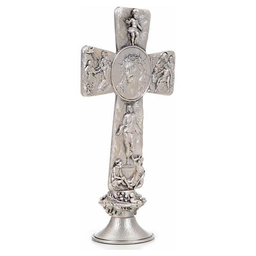 Croce tavolo argentata immagini Deposizione Resurrez. Ascens. 8