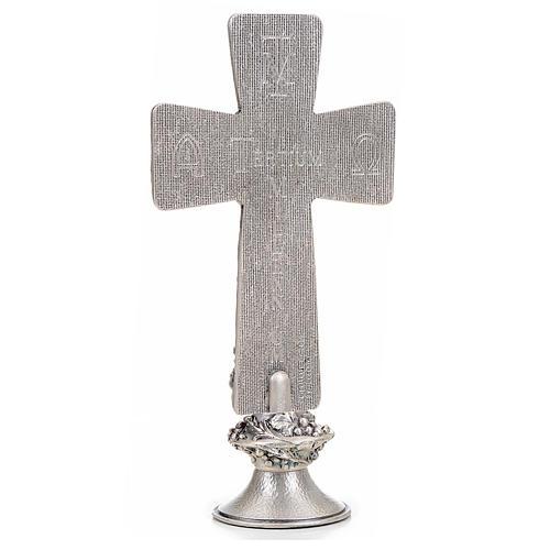 Croce tavolo argentata immagini Deposizione Resurrez. Ascens. 3