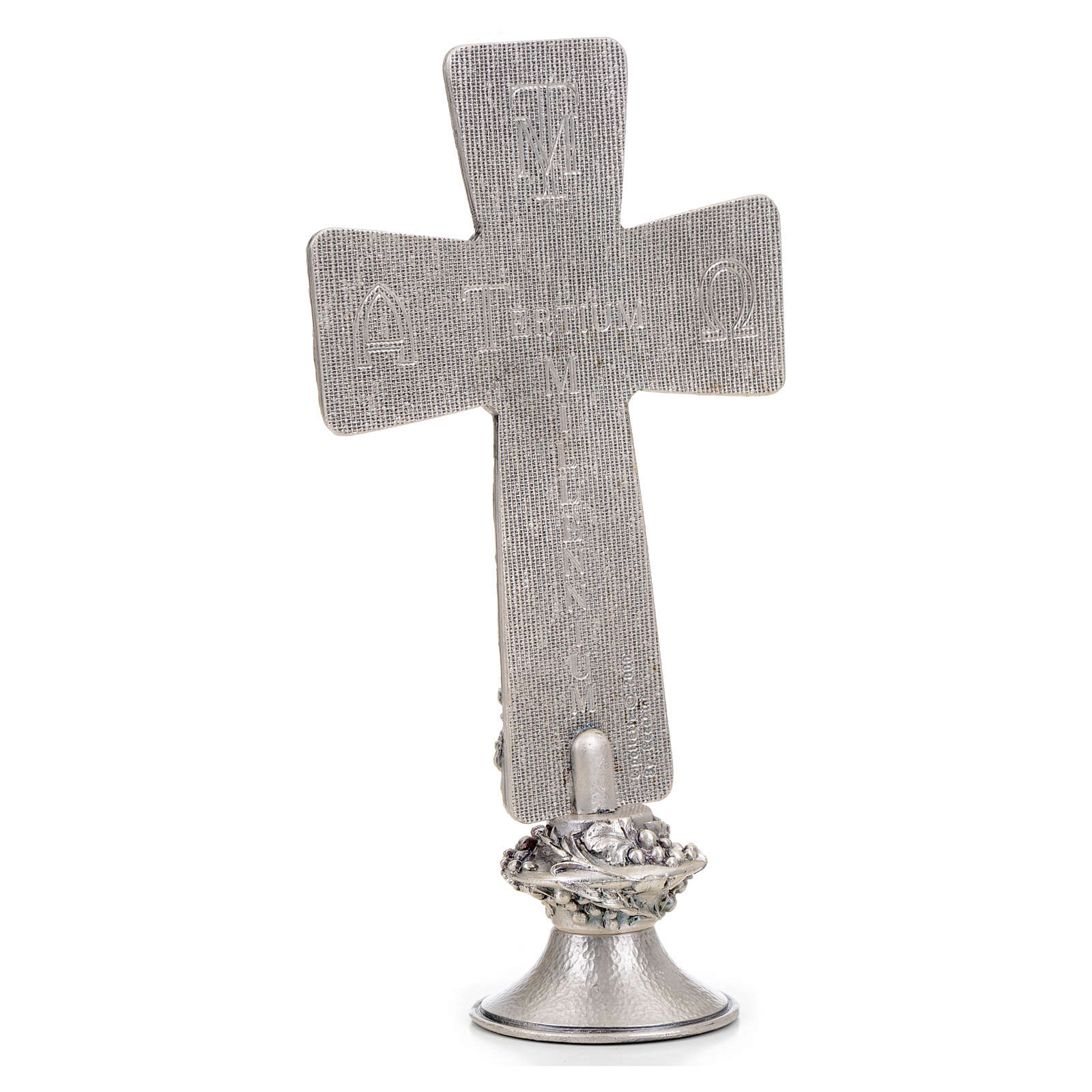 Crucifix, silver table cross with Burial, Resurrection and Ascen 4