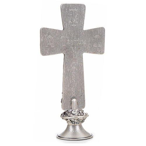 Crucifix, silver table cross with Burial, Resurrection and Ascen 3