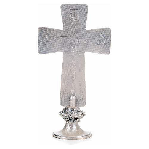 Cross with Deposition Resurrection Ascension symbols 3